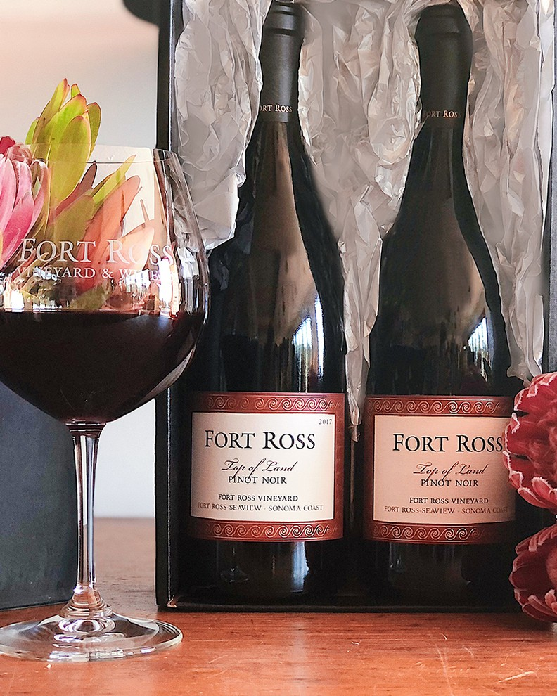 Valentine's Day Top of Land Pinot Noir Gift Box
